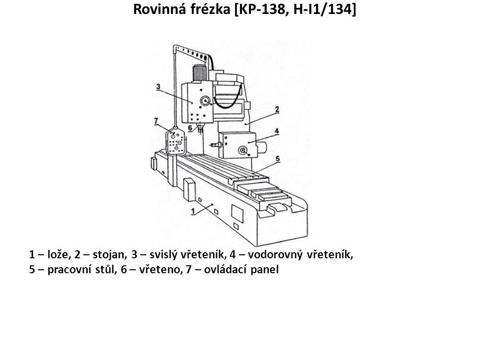 Rovinná frézka [KP-138, H-I1/134]